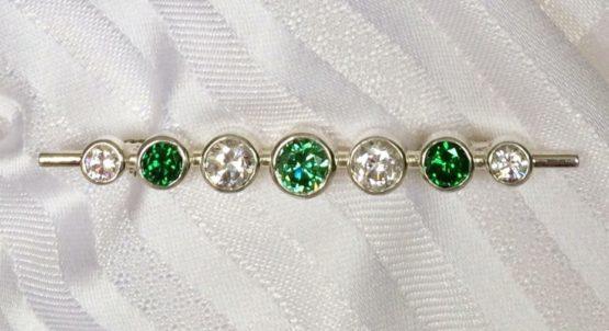 Emerald Graduated Stones Stock Pin