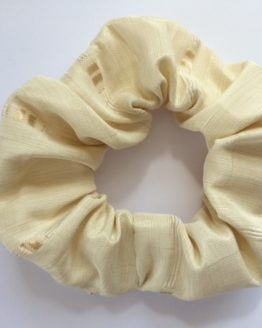Fawn/Cream square motif scrunchie