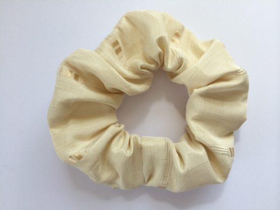 Fawn/Cream square motif scrunchie
