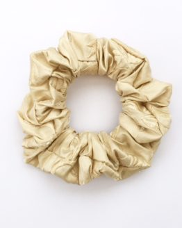Fudge beaded embroidered silk scrunchie