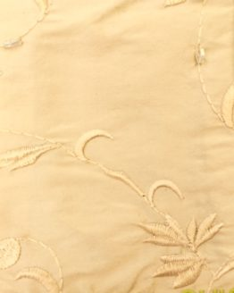 Fudge beaded embroidered silk stock fabric