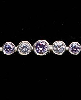 Lavender Graduated Stones Silver Stock Pin