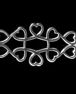 Adjoining Hearts Silver Stock Pin