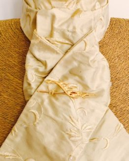 Fudge beaded embroidered silk stock pre tied