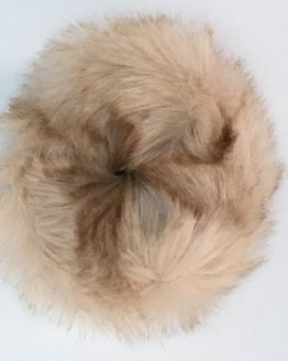 Pale honey faux fur scrunchie jpg
