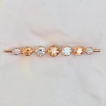 Champagne Graduated Stones Stock Pin in Rose Gold