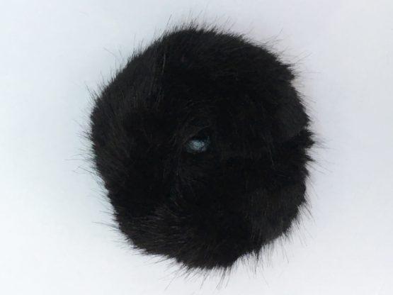 Black Mink Faux Fur Scrunchie