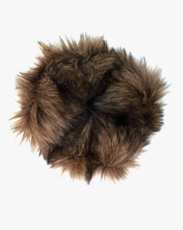 Chestnut Brown Faux Fur Scrunchie