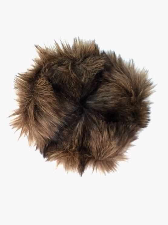 Chestnut Brown Faux Fur Scrunchie