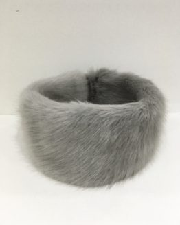 Grey Mink Faux Fur Headband