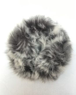 Mixed Grey Faux Fur Scrunchie