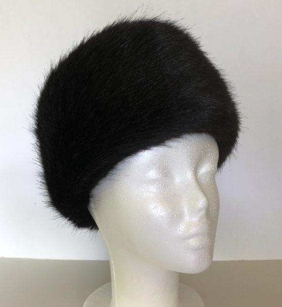 Black Mink Faux Fur Headband