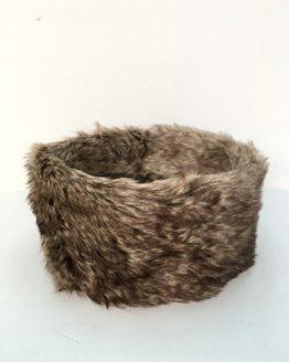 Mole Brown Faux Fur Headband