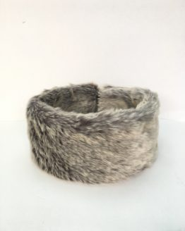 Silver Grey Faux Fur Headband