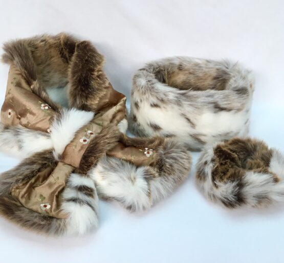 Cocoa Silk and Lynx Faux Fur collection