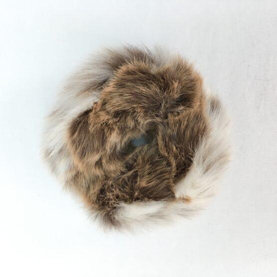 Lynx Faux Fur Scrunchie
