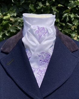 Lilac and White Freesia in Cotton Pretied Stock