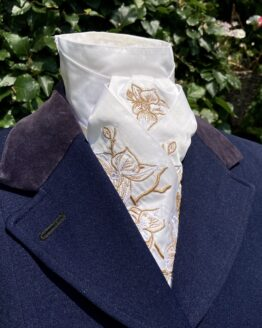 Old Rose Gold Metallic Orchid in Satin Silk Pretied Stock