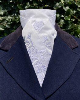 White Freesia in Silk Pretied Stock