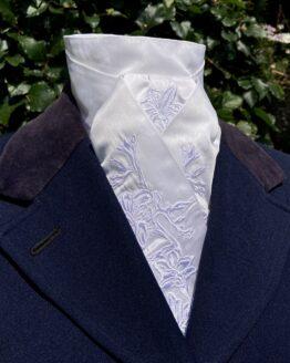 White Freesia in Cotton Pretied Stock