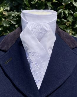 White Bluebell in Cotton Pretied Stock